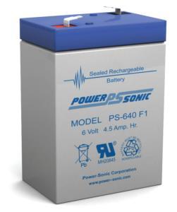 Batterie-AGM-power-sonic-6-V-4-5-PS-640-F1